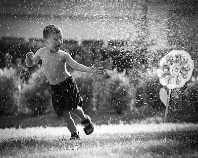 Fun in the sprinkler